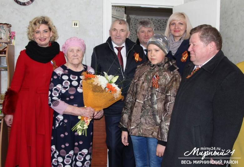 В День Победы в Удачном поздравили труженика тыла фото 2