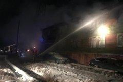 В Мирнинском районе сгорел многоквартирный дом. Есть пострадавший