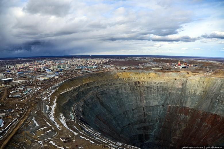 Как добывают алмазы. Компания «АЛРОСА». Мирнинский и Нюрбинский ГОК фото 6