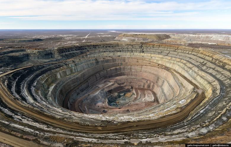 Как добывают алмазы. Компания «АЛРОСА». Мирнинский и Нюрбинский ГОК фото 22